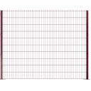 2D Paneļu Žogs (50 x 200mm) Zn + RAL8017 (Brūns) 6/5/6
