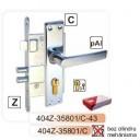 Slēdzene-404 cinkota ar rokturi,  uzliktni (hroms)