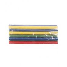 Līmes stobriņi d.11mm, 200mm / 12gab, krāsaini