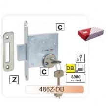 Slēdzene-486 cinkota ar uzliktni un serdeni-DB (hroms)