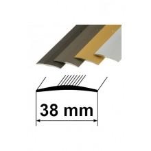 Savienojuma vietas pārklājošie aluminija profili 38mm/270cm