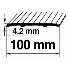 Savienojuma vietas pārklājošie aluminija profili 100mm/90cm