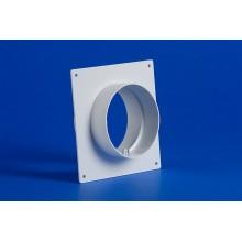 Apaļo kanālu savienojums ar stiprinājumu apaļai PVC ventilācijas sistēmai