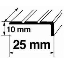 Dekoratīvie alumīnija leņķa profili 10x25mm/270cm