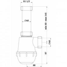 Sifons 1 1/2 40mm Bez Ventiļa
