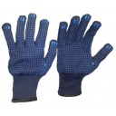 Cimdi tekstila 369/N ar PVC punktējumu