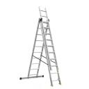 Kāpnes aluminija 3-sekcijas 3x10 Pakāpieni DW3 max 150kg