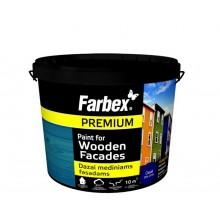 Farbex Wooden Facades ūdens dispersijas krāsa koka fasādēm 12kg