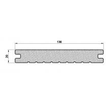 Kompozītmateriāla Terases Dēlis Inodeck Solid TLR-B2