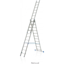 Kāpnes alumīnija VHR 3x11 pakāpieni