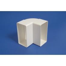 Līkums, vertikāls taisnstūra ventilācijas sistēmai