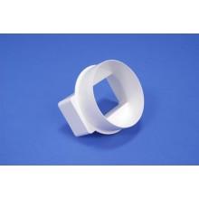Pāreja uz apaļo, īsā apaļai un taisnstūra PVC ventilācijas sistēmai