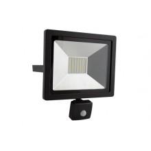 LED prožektors 50W ar sensoru, melns IP44