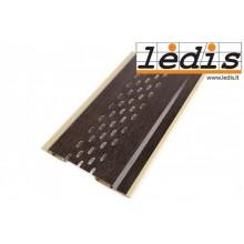 Pastiprināti apdares dēļi PVC (0. 1 X 2, 7m) ar perforaciju