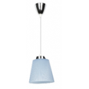 7W(360Lm) LED lustra,hromēta ar gaiši zilu kupolu