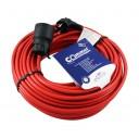 0871 Ext.cord H05VV-F 3G1,5/25m pagarinātājs sarkana