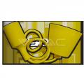 Silikona Dzeltena E27 spuldzes patrona ar vadu un savienojumu pie griestiem
