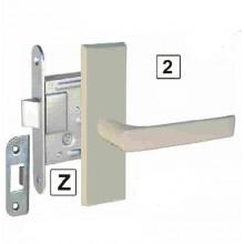 Slēdzene-200 cinkota ar rokturi un uzliktni (balts)