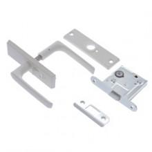 Slēdzene-200 cinkota ar rokturi, uzliktni un serdeni-WC (balts)