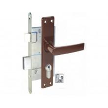 Slēdzene-407 cinkota ar rokturi, uzliktni un serdeni-43