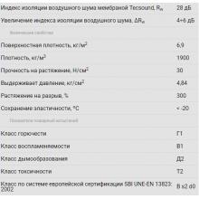 Skaņas Izolācijas Membrāna Tecsound SY70  6,1 m2