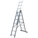 Kāpnes aluminija ar 3x11 Pakāpieniem 7.6m max 150kg