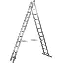 Kāpnes aluminija ar 2x11 Pakāpieniem 5.34m max 150kg